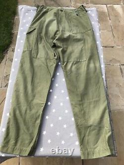 British Army 1960 Pattern OG Trousers, Rare Size 8, Very Good Condition See Desc