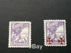 British British Locals Lundy 2 VERY Rare 1943 Trial Overprints On 1930 6p