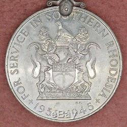 British UK Order Southern Rhodesia Medal for War Service WWII Rare