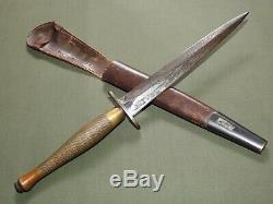 British WW2 COMMANDO B2 MARKED 2ND PATTERN FAIRBAIRN-SYKES FIGHTING KNIFE RARE