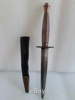 British WW2 Commando FairbairnSykes fighting knife hunting dagger Rodgers Rare