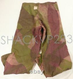 British Windproof Camouflage Brush Stroke Pants Trousers SAS WWII RARE 1944