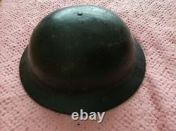 British Ww2 Brodie Plastic Plasfort Original Rare Fire Guard Helmet With Liner