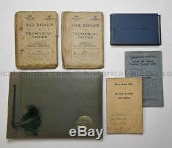 British Wwi Pilot Log Book & Photo Album Grouping Very Rare
