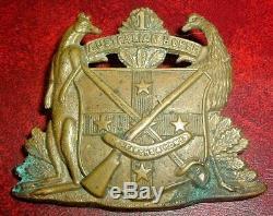CAP BADGES-ORIGINAL RARE BOER WAR RARE 1st AUSTRALIAN HORSE SLOUCH HAT BADGE