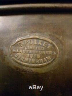 Candle 1/2 G. Polkey Birmingham Ww1 1916 Very Rare