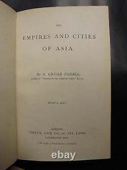 EMPIRES CITIES ASIA withMAP China Japan Russia Arabia Persia Turkey RARE ANTIQUE