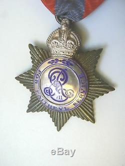 ENGLAND BRITISH IMPERIAL SERVICE MEDAL, NAMED TO FREDERICK W. SNODGRASS, 1910, rare
