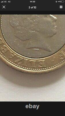 Error Coin £2 Two Pound Coin VERY RARE Double Die 2010 Letters(IRRBB)coin Hunt