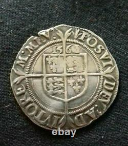 Exceptionally Rare Elizabeth I 1563 Sixpence 3 Over 2. A69