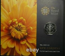 Fifty Pence 50p 2009 Kew Gardens Offical Royal Mint Pack RARE