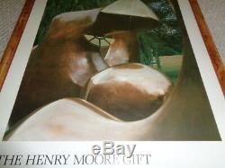 Framed Rare Henry Moore Exhibit poster Great Britain Tate Gallery working model