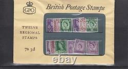 GB 1960 QE11 REGIONALS WILDINGS FORERUNNER PRESENTATION PACK MINT STAMP 12v RARE
