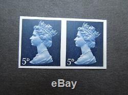 GB 1968 Rare Pre Decimal 5d Machin SG735a U17a Imperf Pair Variety Error UM
