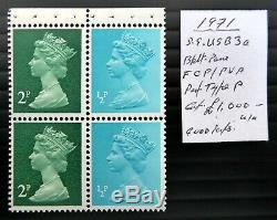 GB 1971 Machin Booklet Pane Very RARE Good Perfs As Described SALE NT496