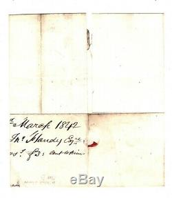 GB IRELAND MALTESE CROSS Cover Co Longford Ballymahon MX 1d Red 1842 RARE EA4