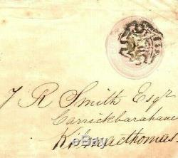 GB Ireland DISTINCTIVE MALTESE CROSS Waterford MX 1843 Penny Pink RARE MC52