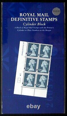 GB Machin £2 Enschede Cyl Block RARE Format Royal Mail Presentation Pack DF722