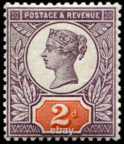 GB QV 1887 2d Colour Trial Purple and Orange Jubilee Issue Superb Mint Rare