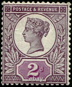 GB QV 1887 2d Colour Trial Purple and Purple Jubilee Issue Superb Mint Rare