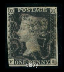 GB QV 1d Penny Black Plate 6 With so Called White Cirencester MX Rare Ex Spink