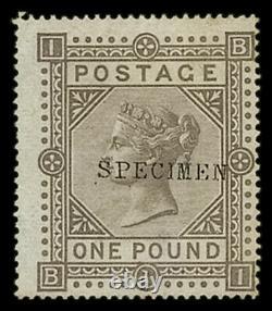 GB QV SG129s £1 Brown Lilac BI Mint Specimen type 9 Rare