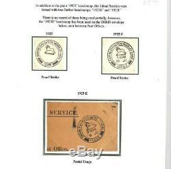 GB RARE 1925 WEMBLEY EXHIBITION POSTMARK Proof Strikes2& Piece samwellsAp618