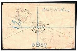 GB RARE SABAH MAIL Cover Via St. Kitts & St-Eustatius CURACAO 1899 BORNEO MC138