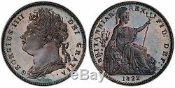 GREAT BRITAIN. George IV. 1822 CU Farthing. PCGS PR64RB SCBC-3822. Very rare