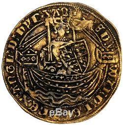 GREAT BRITAIN HALF NOBLE GOLD COIN EDWARD III 1327-1377 TOWER 3,75g 28mm RARE