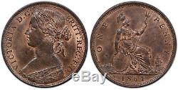 GREAT BRITAIN Victoria 1864 AE Penny PCGS MS64RB Lovely quality, rare date