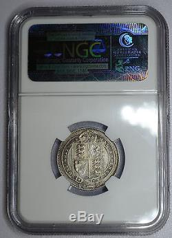 Great Britain 1 Shilling 1889, XF40, NGC, silver, KM#761, UK 1S Small Bust RARE
