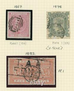 Great Britain 1840-1970 Lovely collection with many rare stamps incl. £5 0range