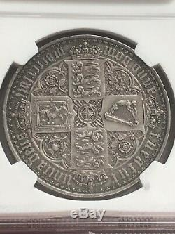 Great Britain 1847 Victoria Gothic Crown NGC PROOF SILVER COIN RARE