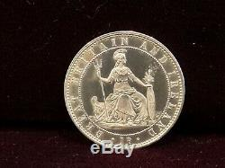 Great Britain 1860 1 Penny Silver Pattern RARE