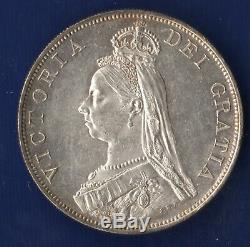 Great Britain 1887 DOUBLE FLORIN Victoria Rare Proof Cameo Arabic 1 KM 763