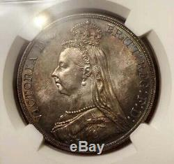 Great Britain 1889 Victoria Crown NGC MS63 Rare type