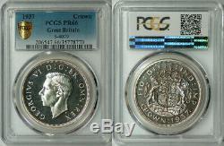 Great Britain 1937 George VI Proof Silver Crown PCRS PR-66 RARE GRADE