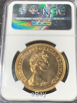 Great Britain 1984 5 Sovereign Gold NGC MS70 PL (Rare Proof Like) Top Pop 1/1