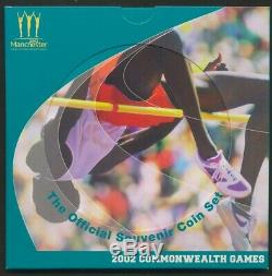Great Britain 2002 Commonwealth Games £2 4-Coin Brilliant UNC Mint Set, RARE