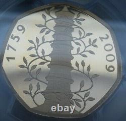 Great Britain 2019 Kew Gardens Gold Proof 50p pence Piedfort pcgs pr69dcam rare