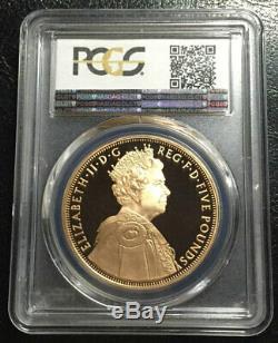 Great Britain £5 Gold 2012 PCGS PR69DCAM Diamond Jubilee Rare