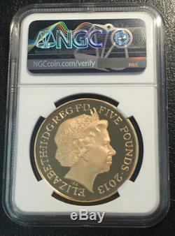 Great Britain £5 Gold NGC PF70UC Crown POP 4/0 Top grade Very Rare