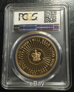 Great Britain 5 Pounds 1993 Gold PCGS PR70DCAM Top grade Rare