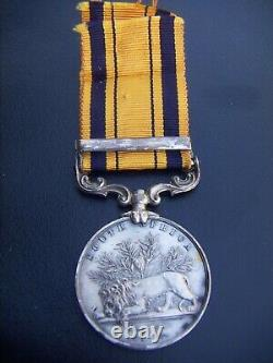 Great Britain British Rare Genuine South Africa Zulu Medal 1877-8-9 Clasp Named
