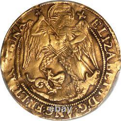 Great Britain Elizabeth I (1578-79) Gold Angel PCGS XF Details RARE