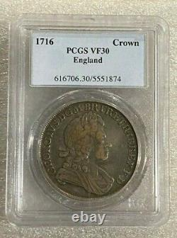 Great Britain England 1716 George I Crown PCGS VF30 RARE SPECIMEN