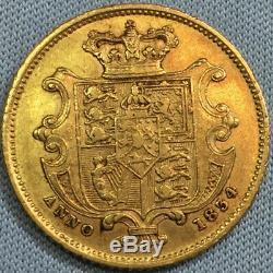 Great Britain Gold 1/2 Sovereign William IIII 1834 RARE BANK COUNTERMARK, AU