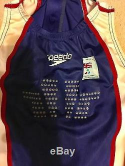 Great Britain RARE Speedo FSll Bodysuit Olympic Swimming Swim Suit Athens 2004