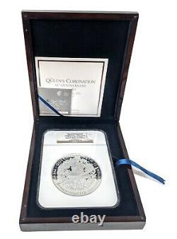 Great Britain Silver Kilo Queens Coronation 60th Anniv NGC PF70 Rare Coin 2013